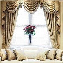 Элитные итальянские шторы в гостиной