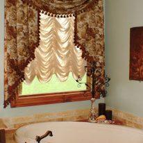 Французские шторы для ванной