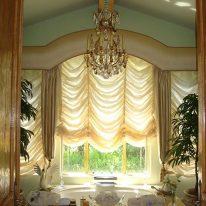 Французские шторы для ванной комнаты