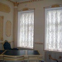 Французские шторы на высокое окно
