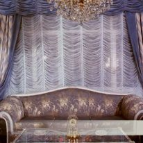 Французские шторы с портьерами