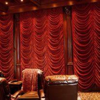 Французские шторы в кинотеатре