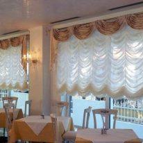 Французские шторы в столовой