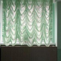 Французские занавески из полупрозрачной ткани