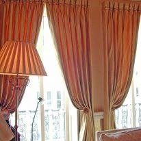 Итальянские шторы на высокие окна