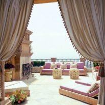 Итальянские шторы с тесьмой и бахромой
