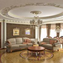 Классические шторы для большой комнаты