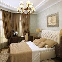 Классические шторы для модной спальни
