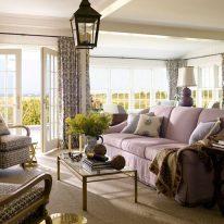 Классические шторы для загородного дома