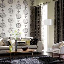Классические шторы с современным орнаментом