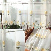 Красивые занавески с цветочным рисунком