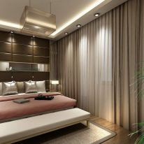 Модные шторы для спальной комнаты