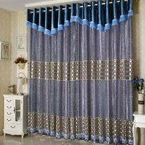 Мягкий ламбрекен и шторы для спальни