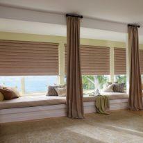 Римские шторы для широких окон
