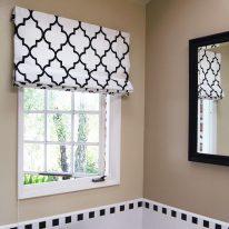 Римские шторы для ванной комнаты