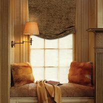 Римские шторы из мягкого бархатного текстиля
