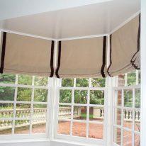 Римские шторы из плотной ткани