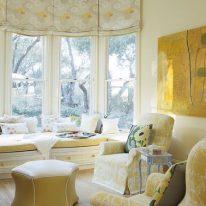 Римские шторы на высокие окна