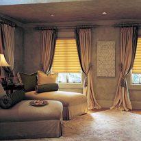 Римские шторы с плотными занавесками