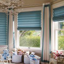 Римские шторы с портьерами