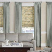 Римские шторы с растительным узором