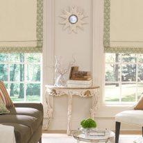 Римские шторы во французском стиле