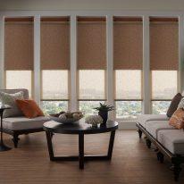 Рулонные шторы для высоких окон