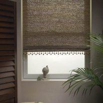 Рулонные шторы из мешковины