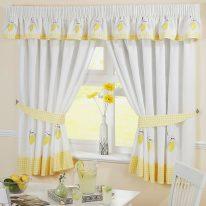 Шторы на кухню с изображением лимона