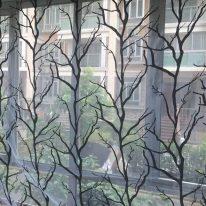 Тюль с растительным узором