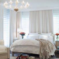 Білі штори для спальні