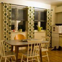 Довгі штори на кухню