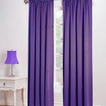 Фіолетові штори портьєри