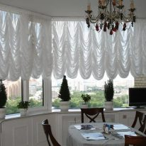 Французькі штори в кухні