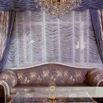Французькі штори з портьєрами