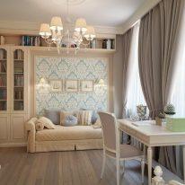 Класичні штори для вітальні