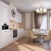 Класичні штори на кухні