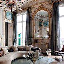 Класичні штори на високі вікна