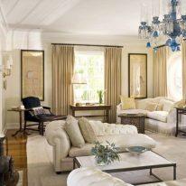 Класичні штори у вітальні кімнаті
