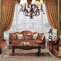 Класичні штори в стилі ренесанс