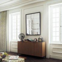 Класичні штори з дрібним візерунком