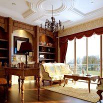 Класичні штори з ламбрекеном
