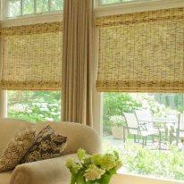 Римські штори з бамбука