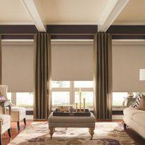 Рулонні штори у вітальні
