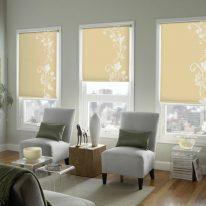 Рулонні штори з рослинним візерунком