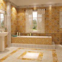 Штори на люверсах в ванній