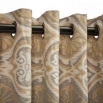 Штори на люверсах з візерунком у стилі дамаск