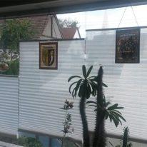 Тканинні жалюзі на широке вікно