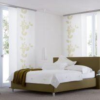 Японські штори в спальні